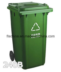 Plastic Refuse Bin 120L with Virgin New HDPE Material for Outdoor Use pictures & photos