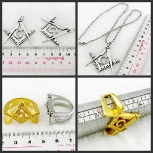 Plate Gold Masonic Pendant Necklace pictures & photos