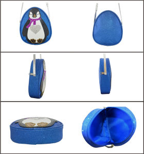 Cute Penguin Novelty PU Kid′s Cross Body Bag pictures & photos