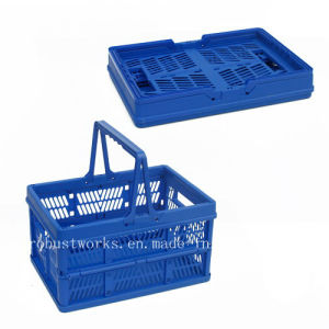 Large Size Folding Plastic Basket (FB003B) pictures & photos
