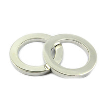 Fashion High Quality Metal Silver Flat O Ring pictures & photos