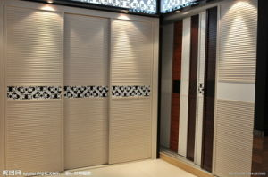 Appealing Solid Wood Double Color Wardrobe Design Furniture Bedroom