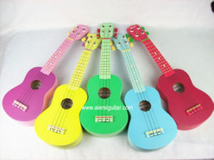 China Aiersi Basswood Body Color Soprano Beginner Ukulele pictures & photos