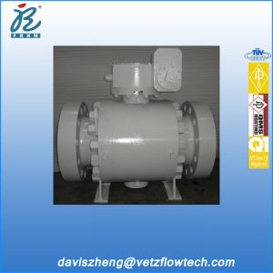 10 Inch Class 1500 Rtj Ends Bolted Cover A105 Trunnion Mounted Pipeline Ball Valves with Gearbox