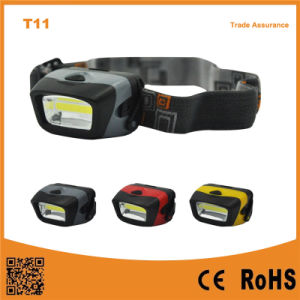 T11 Portable Outdoor Emergency Camping COB LED 3xaaa Powerful Headlamp pictures & photos