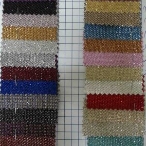Ck-146 Shiny Polyester Textile Decoration Fabric pictures & photos