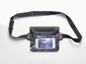 Promotional Black Tarpaulin Waterproof Wrist Bag with Hook & Loop (MC4045) pictures & photos