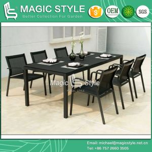Garden Chair Dining Chair Dining Set Textile Chair Stackable Chair Sling Chair Outdoor Furniture Patio Furniture Aluminum Table Dining Table Waterproof Chair pictures & photos