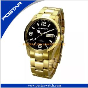 Men Luxury Gold Automatic Watch Vogue Mechanical Watch pictures & photos