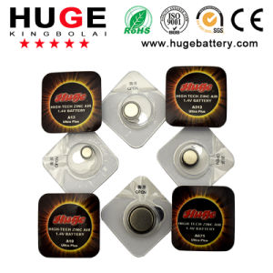 1.4V zinc air button cell battery for hearing aids pictures & photos