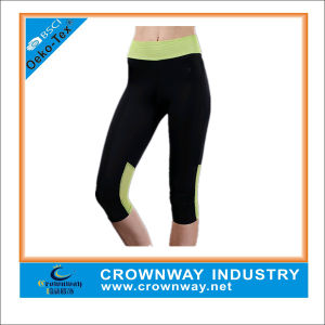Wholesale Lycra Mesh Women Sports Compression Running Leggings pictures & photos