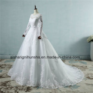 Good Quality Appliqued Princess Tulle Lace Wedding Dress pictures & photos