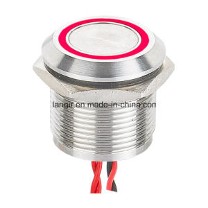 19mm Large Ring Illuminated Aluminium Anodized Piezo Switch (CE, RoHS) pictures & photos
