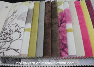 Flock Design Print Polyester Sofa Fabric for Cushion pictures & photos