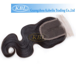 Black Human Hair Lace Closure 3.5*4 Middle Part pictures & photos