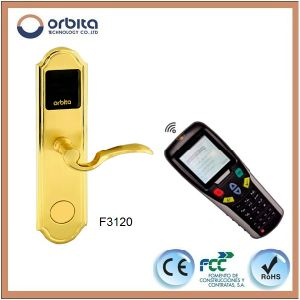 Pure Stainless Steel Entry Security RF Swipe Card Door Locks pictures & photos