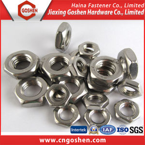 DIN439 Strainless Steel Ss304 Hexagonal Thin Nuts pictures & photos