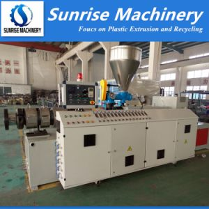 Twin Screws Extruder Machine for Plastic PVC Pipe and Profile pictures & photos