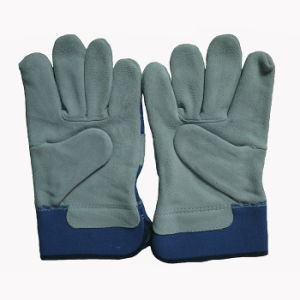 Cow Split Leather Workding Gloves for Miners pictures & photos