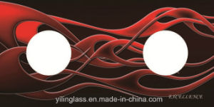 Heat Resistant Color Fritted Tempered Glass for Gas Stove Top pictures & photos