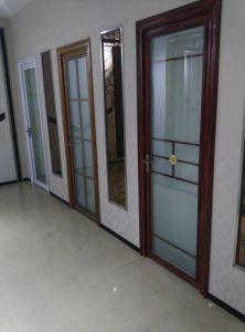 6063-T5 Wood Grain Aluminium Casement Door pictures & photos