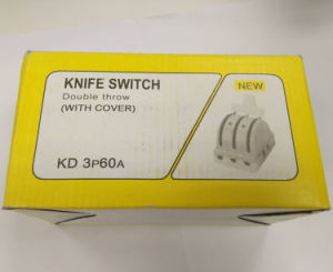 Double Throw 3p60A Porcelain Electric Knife Switch pictures & photos
