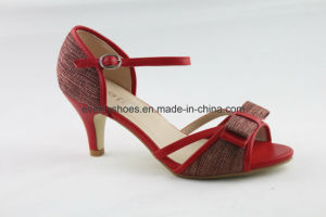 Qualitied High Heels Women Shoes Footwear with Bowknot pictures & photos