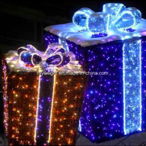LED Light Christmas Motif Light Show Gift Box Outdoor Decoration pictures & photos