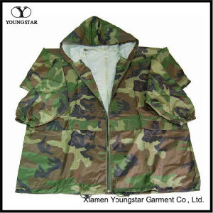 Jacket Style Military Camouflage Raincoat / Army Rain Wear pictures & photos