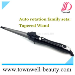 Auto Rotation Tapered Hair Curler with Stand and LCD Display Chinese Manufacturer Wholesale pictures & photos