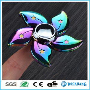 Flower Color Rainbow Aluminum Metal Hand Finger Spinner Fidget EDC Desk Toy Gyro pictures & photos