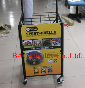 Portable Black Powder Coated Umbrella Metal Display Stand pictures & photos