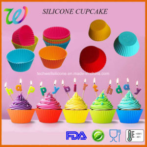 Factory Wholesale FDA Approved 7cm DIY Silicone Baking Cups pictures & photos