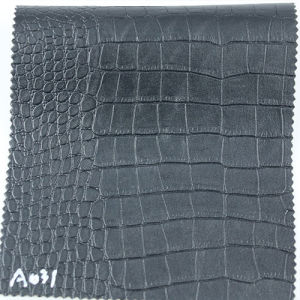 Embossed Crocodile PVC Upholstery Leather for Bag (A031) pictures & photos