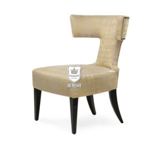 Elegant Beige Hotel Guest Room Chair with Studs pictures & photos