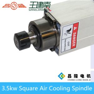 Gdz Air Cooling Spindle Series 3.5kw Square Three-Phase Asynchronous AC Spindle Motor for Wood Carving pictures & photos