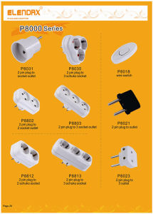 White Lamp Cord Switch Without Cable (P8018) pictures & photos