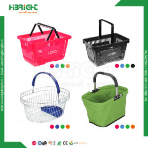 Wire Mesh Plastic Polyester Market Shopping Basket pictures & photos