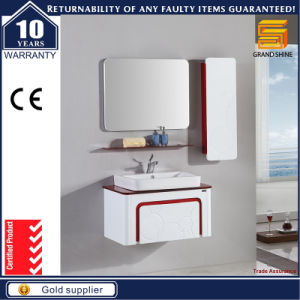 Wall Mounted High Gloss White Paint Bathroom MDF Vanitiy Furniture pictures & photos