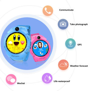Round Screen Kids GPS Tracker Watch pictures & photos