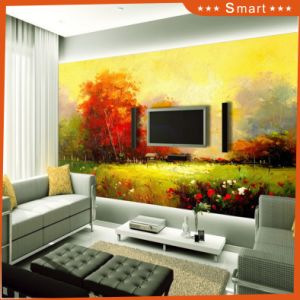 The Beauty of The Suburban Wetland Park Canvas Oil Painting for TV Wall (Model No: Hx-4-033) pictures & photos