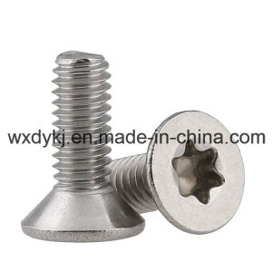 Ss304 Six Lobe Flat Head Socket Cap Machine Screw pictures & photos