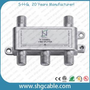 5-1000MHz 4 Way Indoor CATV Splitter (SPDR-4W) pictures & photos