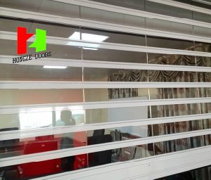 Economic Hot Sell Crystal Glass Strip Curtains Transparent PVC Soft Insulation Door (Hz-FC0265) pictures & photos