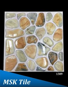 "12X12"" 5D Polished Crystal Pebbles Floor Tile 1306 pictures & photos"