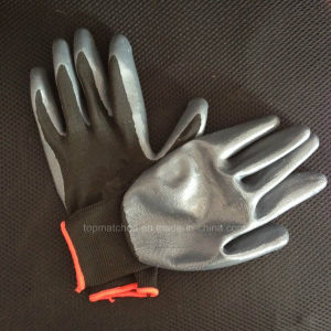 13 Gauge Polyester Nitrile Rubber Glove pictures & photos