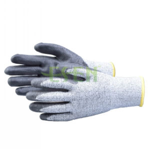 Gray Nitrile Dipped Gloves Safety Industrial Work Glove China (D78-G5) pictures & photos