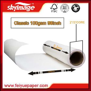 Fu 100GSM Fast Dry 2.4m Wide Format Non-Curled Sublimation Heat Transfer Paper pictures & photos