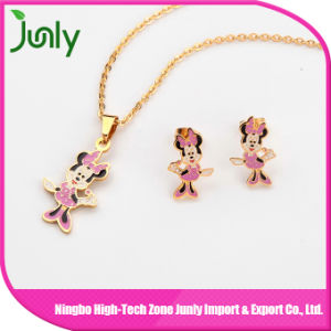 Wholesale Simple Gold Cheap Necklace and Earring Sets pictures & photos