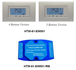 Hotowell Functional Split Temperature Controller Noise-Free Window Card Key Card Lighting Modbus Thermostat Controlling Application- (HTW-61-EW001) pictures & photos